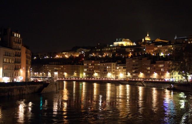 vue de nuit Lyon