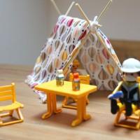 Les playmobils font du camping
