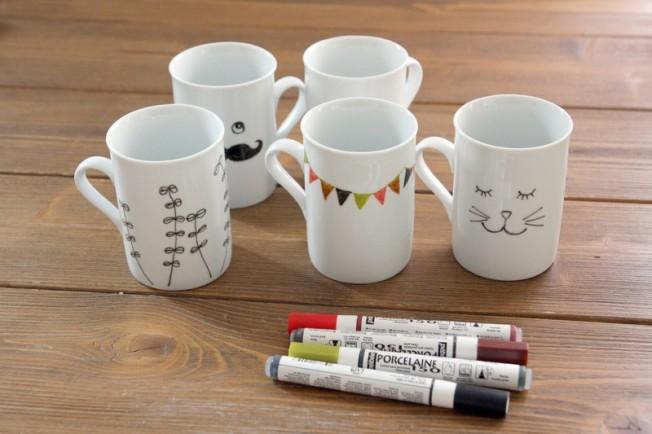 Petits dessins sur porcelaine