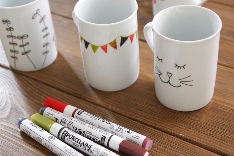 Populaire Petits dessins sur porcelaine - PE64