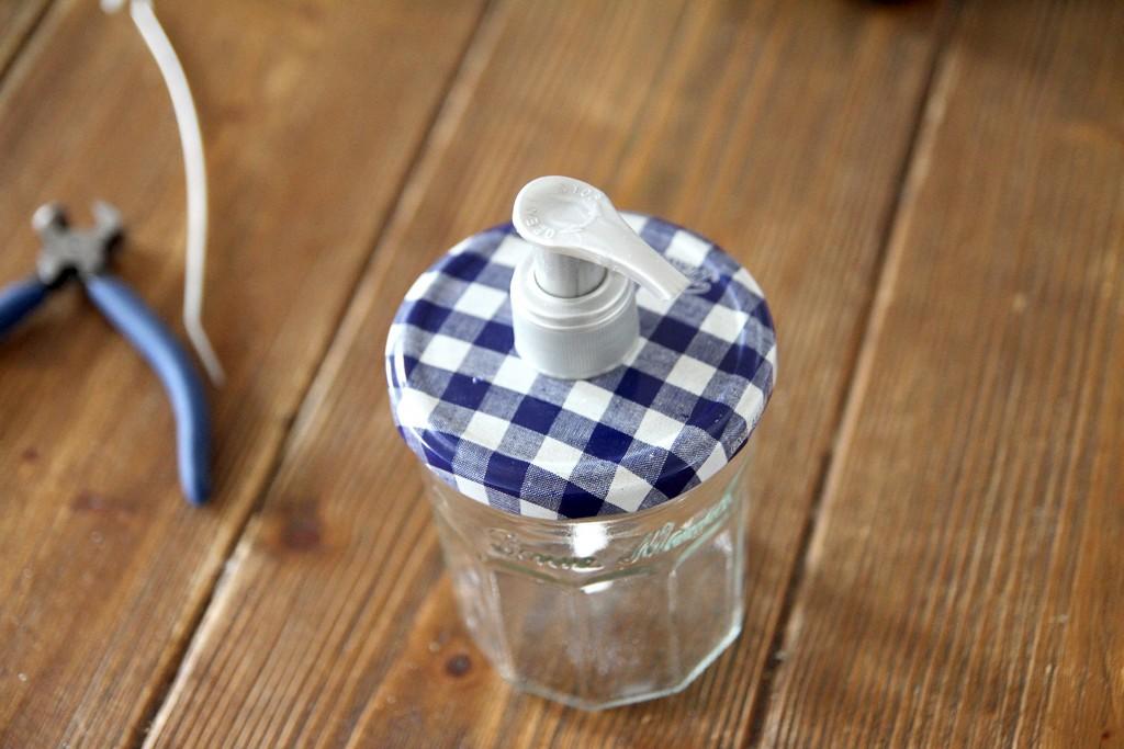 du savon en bocal