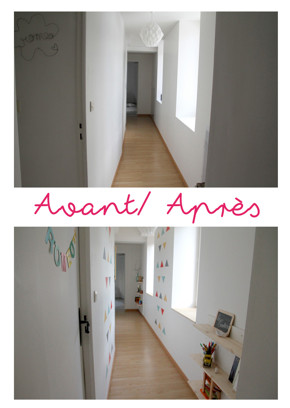 Le couloir avant apr s for Idee deco chambre sans fenetre
