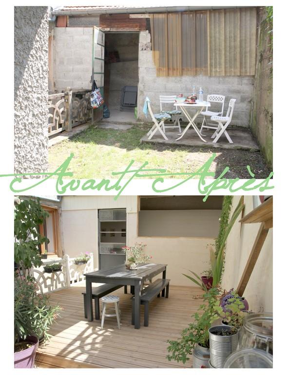 notre cour avant apr s. Black Bedroom Furniture Sets. Home Design Ideas